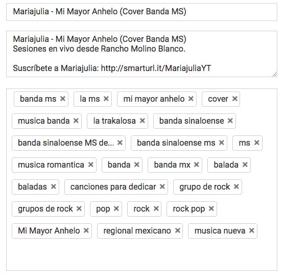 etiquetas en youtube